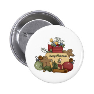 Gingerman Christmas 2 Inch Round Button