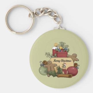Gingerman Christmas Keychain