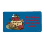 Gingerman Christmas Shipping Labels