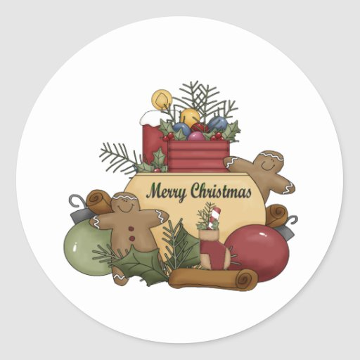 Gingerman Christmas Stickers