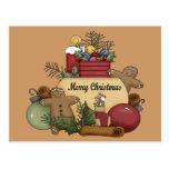 Gingermen Christmas Post Cards