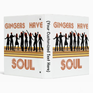 Gingers have Souls Train 3 Ring Binder