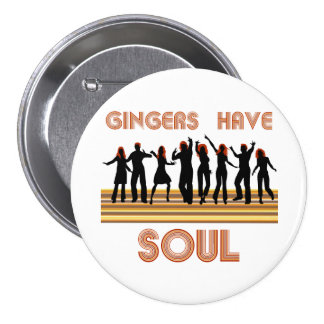 Gingers have Souls Train 3 Inch Round Button