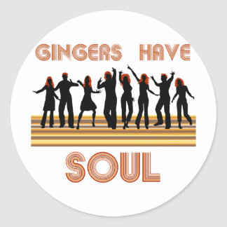 Gingers have Souls Train Classic Round Sticker
