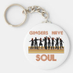 Gingers have Souls Train Basic Round Button Keychain