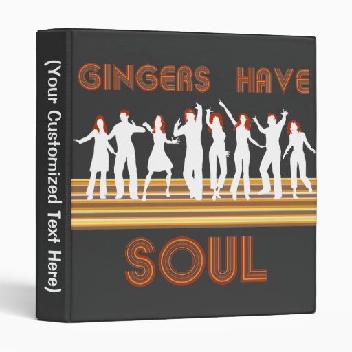 Gingers have Souls Train Vinyl Binders