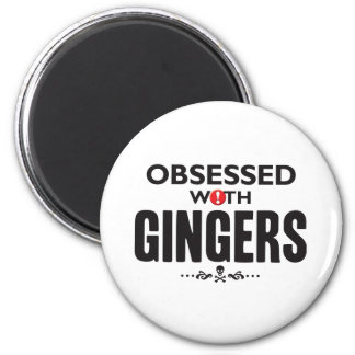 Gingers Obsessed 2 Inch Round Magnet