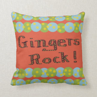 """Gingers Rock!"" American MoJo Pillows"