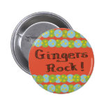 """Gingers Rock!"" Button Pins"