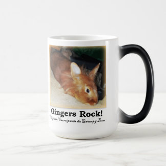 Gingers Rock! Disapproving Bunny Rabbit Two TonMug Magic Mug