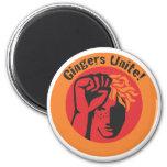 Gingers Unite! 2 Inch Round Magnet