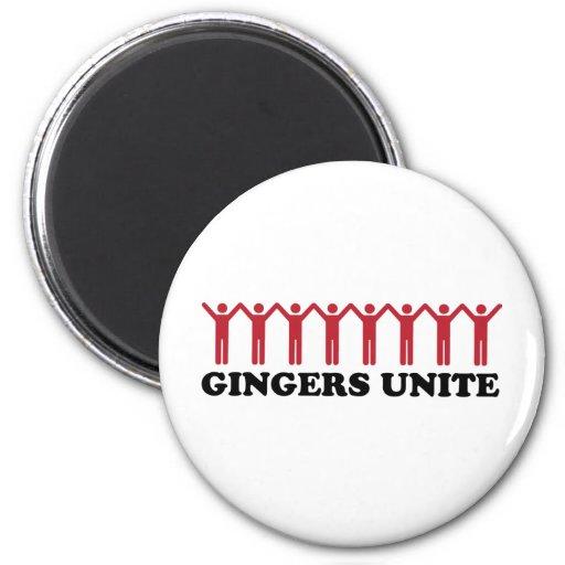 Gingers Unite 2 Inch Round Magnet