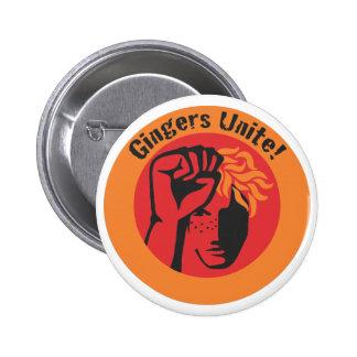 Gingers Unite! 2 Inch Round Button