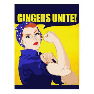Gingers Unite Postcard