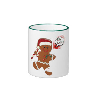 gingersnap cookie man Christmas holiday mug design