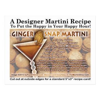 Gingersnap Martini Recipe Postcard