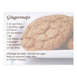 Gingersnaps Recipe Postcards