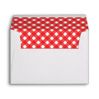 Gingham A7 envelope and liner