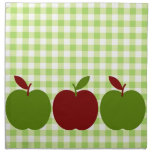Gingham and Apples Napkins