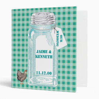 Gingham and Canning Jar 3 Ring Binder