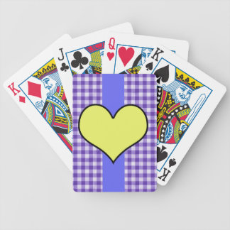 Gingham and Hearts Design Bicycle Playing Cards