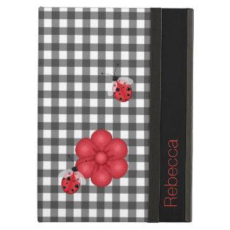 Gingham and Ladybugs Custom iPad Air 2 Case