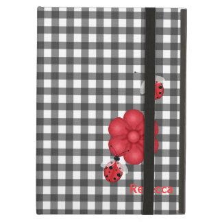 Gingham and Ladybugs Custom iPad Air Case