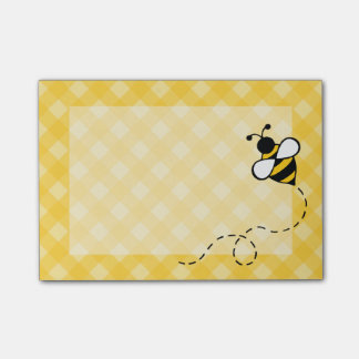 Gingham Bee Post It Notes