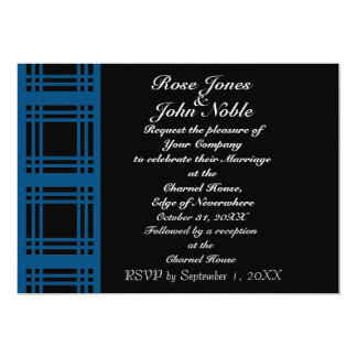 Gingham (Blue) Wedding Invitation