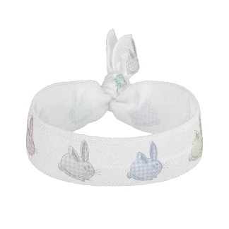 gingham bunnies ribbon hair ties