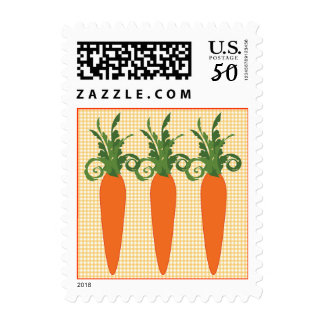 Gingham Carrot Postage Stamp