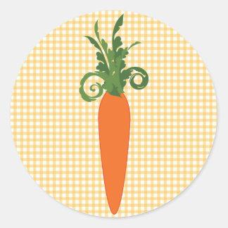 Gingham Carrot Sticker