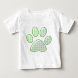 gingham cat paw - green shirt