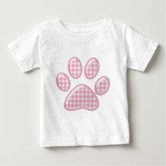 gingham cat paw - pink shirt