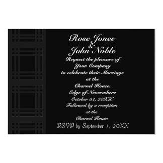 Gingham (Charcoal) Wedding Invitation