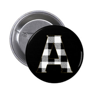 Gingham Check A Pinback Button