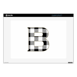 Gingham Check B Laptop Decals