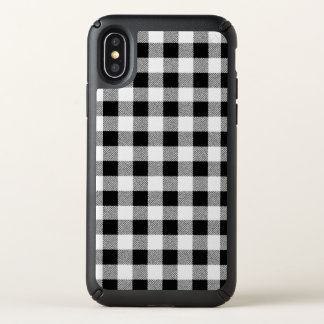 Gingham Check Black Speck iPhone X Case