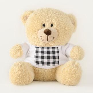 Gingham Check Black Teddy Bear