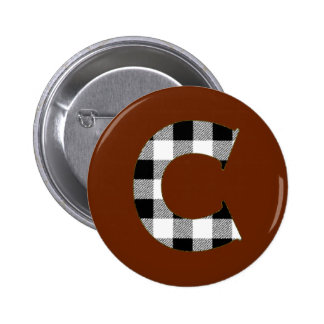 Gingham Check C Button