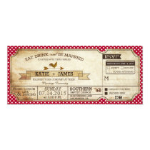 Gingham Check Country Picnic Wedding Card