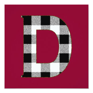 Gingham Check D Card