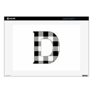 Gingham Check D Laptop Decal