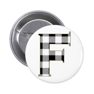 Gingham Check F Button