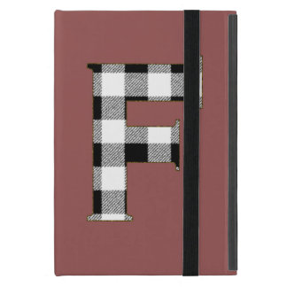 Gingham Check F Cover For iPad Mini
