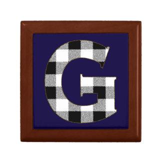 Gingham Check G Jewelry Box