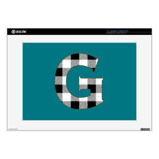 Gingham Check G Laptop Skin