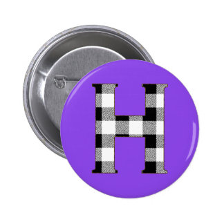 Gingham Check H Button