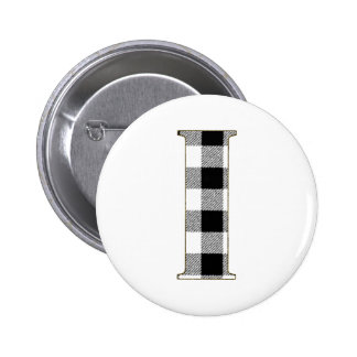 Gingham Check I Button
