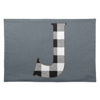 Gingham Check J Cloth Placemat